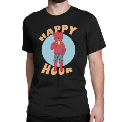 Happy Hour Classic T-shirt Designed By Cypryanus