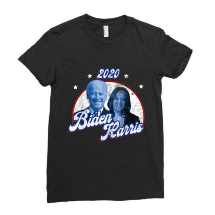 Biden Harris Election 2020 Ladies Fitted T-shirt Designed By Amber Petty