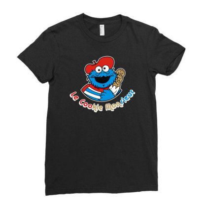 Le Cookie Monsieur Ladies Fitted T-shirt Designed By Fanshirt