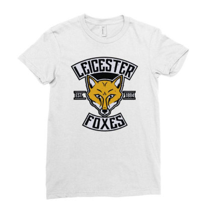 Leicester Foxes Ladies Fitted T-shirt Designed By Fanshirt