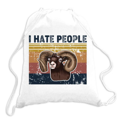 I Hate People Retro Vintage Goat Drawstring Bags Designed By Vip.pro123