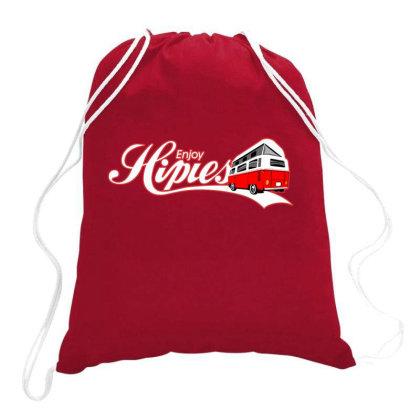 Enjoy Hipies Drawstring Bags Designed By Samkal