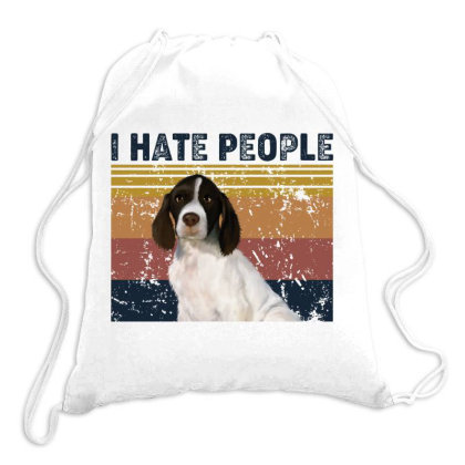 I Hate People Retro Vintage French Spaniel Drawstring Bags Designed By Vip.pro123