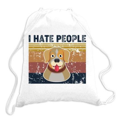 I Hate People Retro Vintage Labrador Retriever Drawstring Bags Designed By Vip.pro123