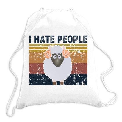 I Hate People Retro Vintage Sheep Chua Drawstring Bags Designed By Vip.pro123
