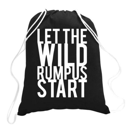 Let The Wild Rumpus Drawstring Bags Designed By Fanshirt