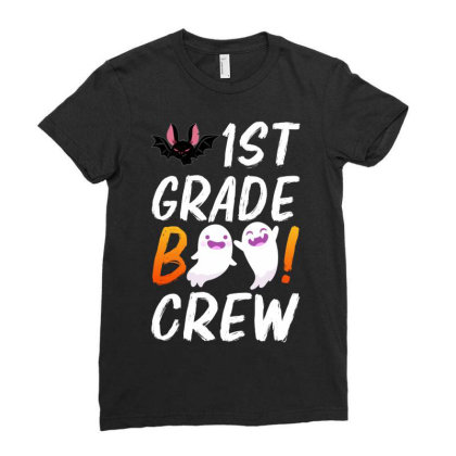1st Grade Boo Crew Ladies Fitted T-shirt Designed By Badaudesign