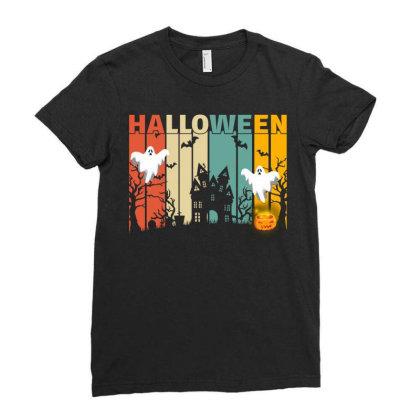 Halloween Ladies Fitted T-shirt Designed By Badaudesign