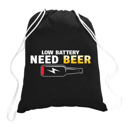 Low Battery Need Beer Drawstring Bags Designed By Badaudesign