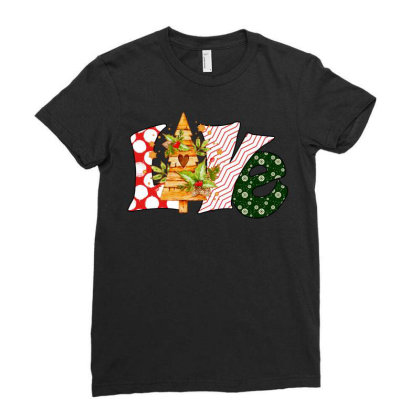 Love Christmas Ladies Fitted T-shirt Designed By Badaudesign
