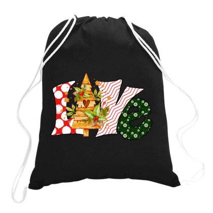 Love Christmas Drawstring Bags Designed By Badaudesign