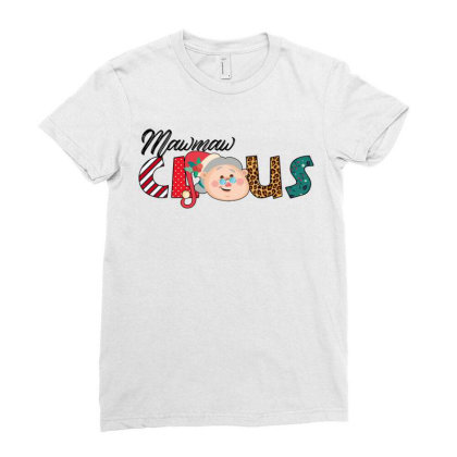 Maw Maw Claus Ladies Fitted T-shirt Designed By Badaudesign