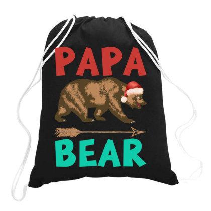 Papa Bear Christmas Drawstring Bags Designed By Badaudesign