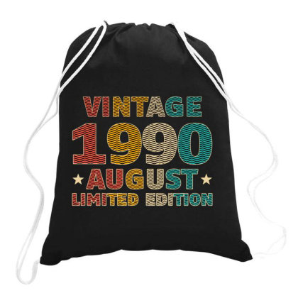 Vintage 1990 August Limited Edition Drawstring Bags Designed By Badaudesign