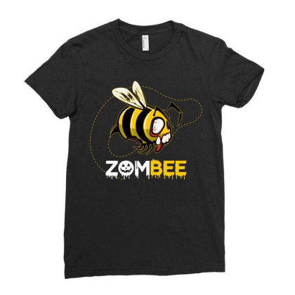 Zombee Ladies Fitted T-shirt Designed By Badaudesign