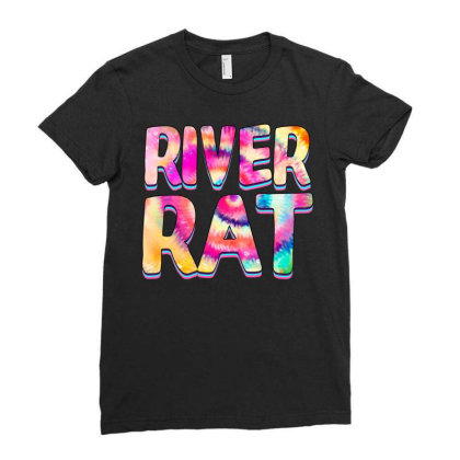 River Rat Ladies Fitted T-shirt Designed By Badaudesign