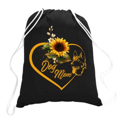 Dog Mom Drawstring Bags Designed By Badaudesign