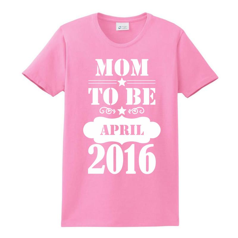 Mom To Be April 2016 Ladies Classic T-shirt | Artistshot