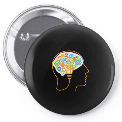 Human Brain Pin-back Button Designed By Chiks