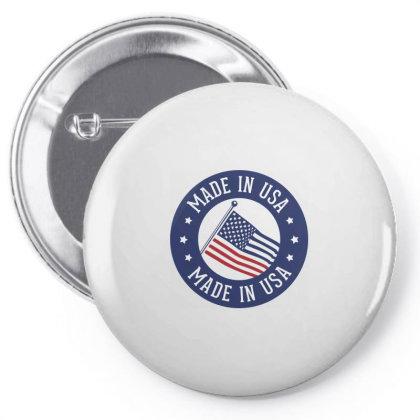 Made In Usa, America Pin-back Button Designed By Estore
