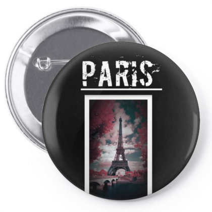 Paris Pin-back Button Designed By Cuser3903