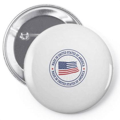 Made In United States Of America, Usa Pin-back Button Designed By Estore