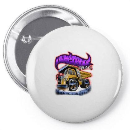 Dump Truck Pin-back Button Designed By Samkal