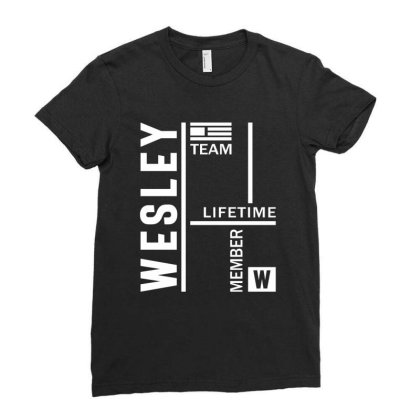 Wesley Personalized Name Birthday Gift Ladies Fitted T-shirt Designed By Cidolopez