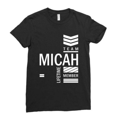 Micah Personalized Name Birthday Gift Ladies Fitted T-shirt Designed By Cidolopez