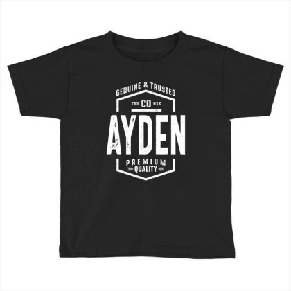 Ayden Personalized Name Birthday Gift Toddler T-shirt Designed By Cidolopez