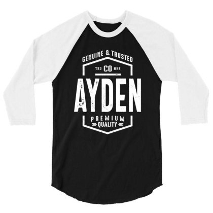 Ayden Personalized Name Birthday Gift 3/4 Sleeve Shirt Designed By Cidolopez