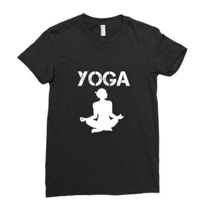Yoga Teacher -  I Love Yoga Funny Gift - Funny Gift Idea For Yoga Love Ladies Fitted T-shirt Designed By Cuser4067