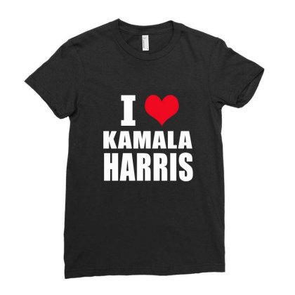 Kamala Harris Ladies Fitted T-shirt Designed By Elegance99