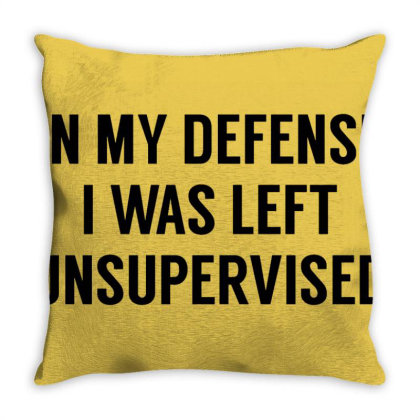 In My Defense Throw Pillow Designed By Laravirna