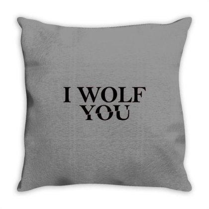 I Wolf You Throw Pillow Designed By Treidka