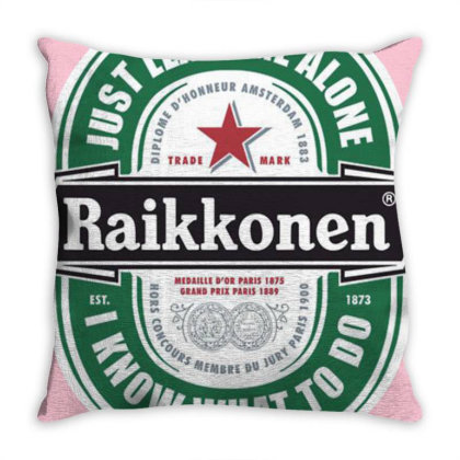 Kimi Beer Vintage Throw Pillow Designed By Laravirna