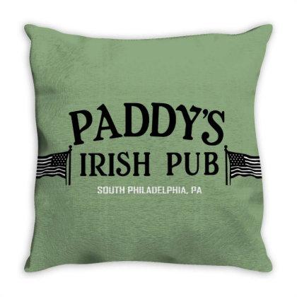 Paddy Irish Pub Throw Pillow Designed By Laravirna