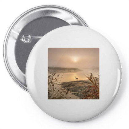 The Heron Pin-back Button Designed By Artango