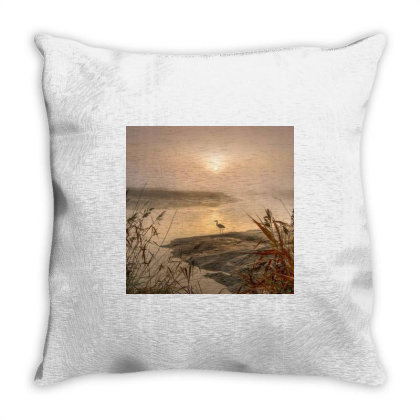 The Heron Throw Pillow Designed By Artango
