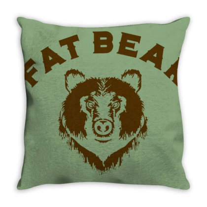 Protect Fat Bears Throw Pillow Designed By Laravirna