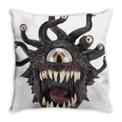 Beholder Monster Throw Pillow Designed By Laravirna
