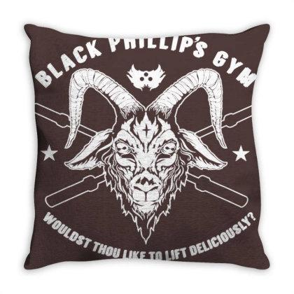 Black Metal Phillip Throw Pillow Designed By Laravirna
