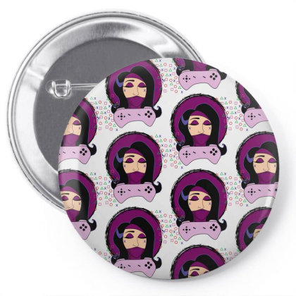 The Kombat Girl Pin-back Button Designed By Belle Abreu