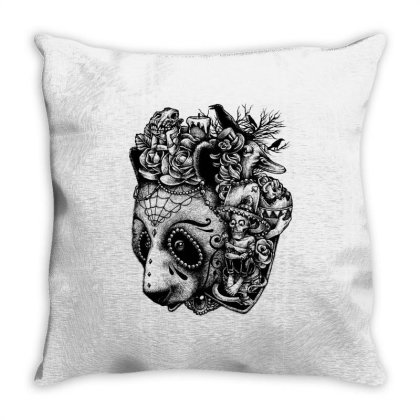 Day Of The Panda Throw Pillow Designed By Glitchygorilla
