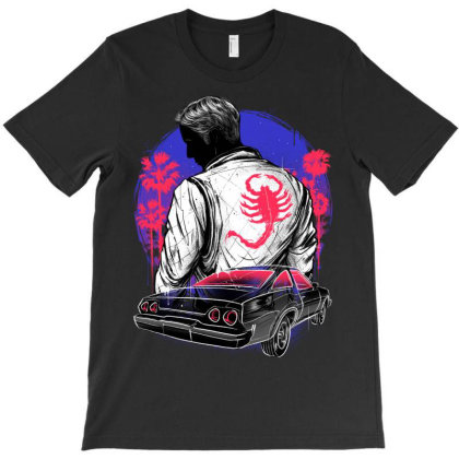 Outrun The Night T-shirt Designed By Glitchygorilla