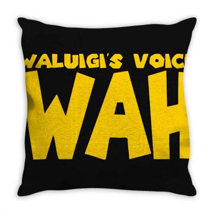 Waluigi Voice Throw Pillow Designed By Sari