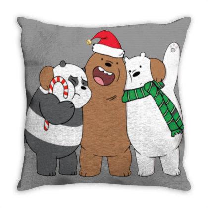 We Bare Christmas Throw Pillow Designed By Sari