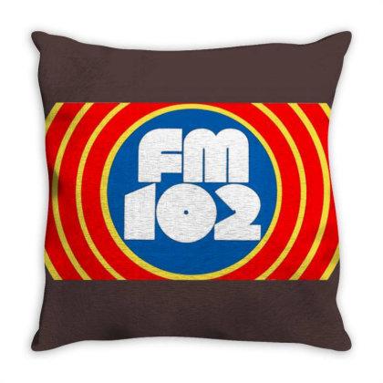 105 Wqsb Radio Throw Pillow Designed By Sari
