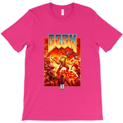 Doom  Retro Logo T-shirt Designed By Sari