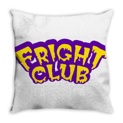 Fright Club Scary Throw Pillow Designed By Sari